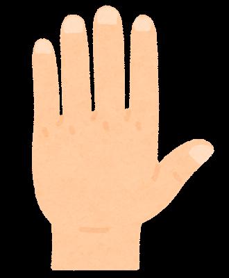 手の甲のイラスト