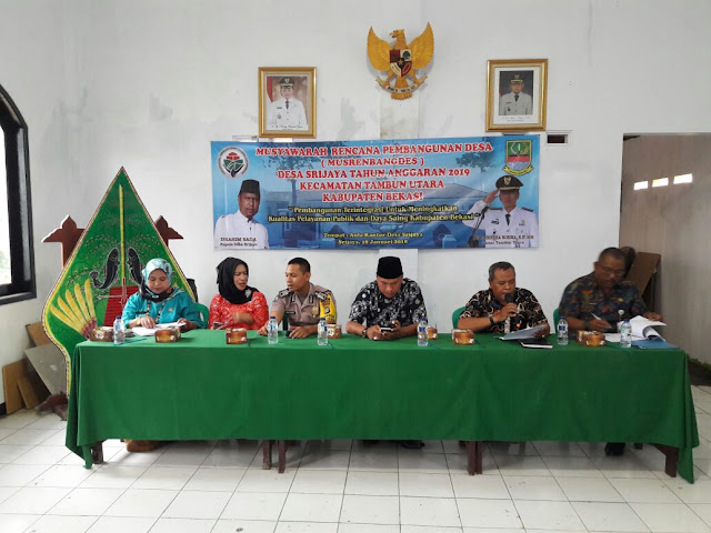 Giat Musyawarah Rencana Pembangunan Desa Srijaya