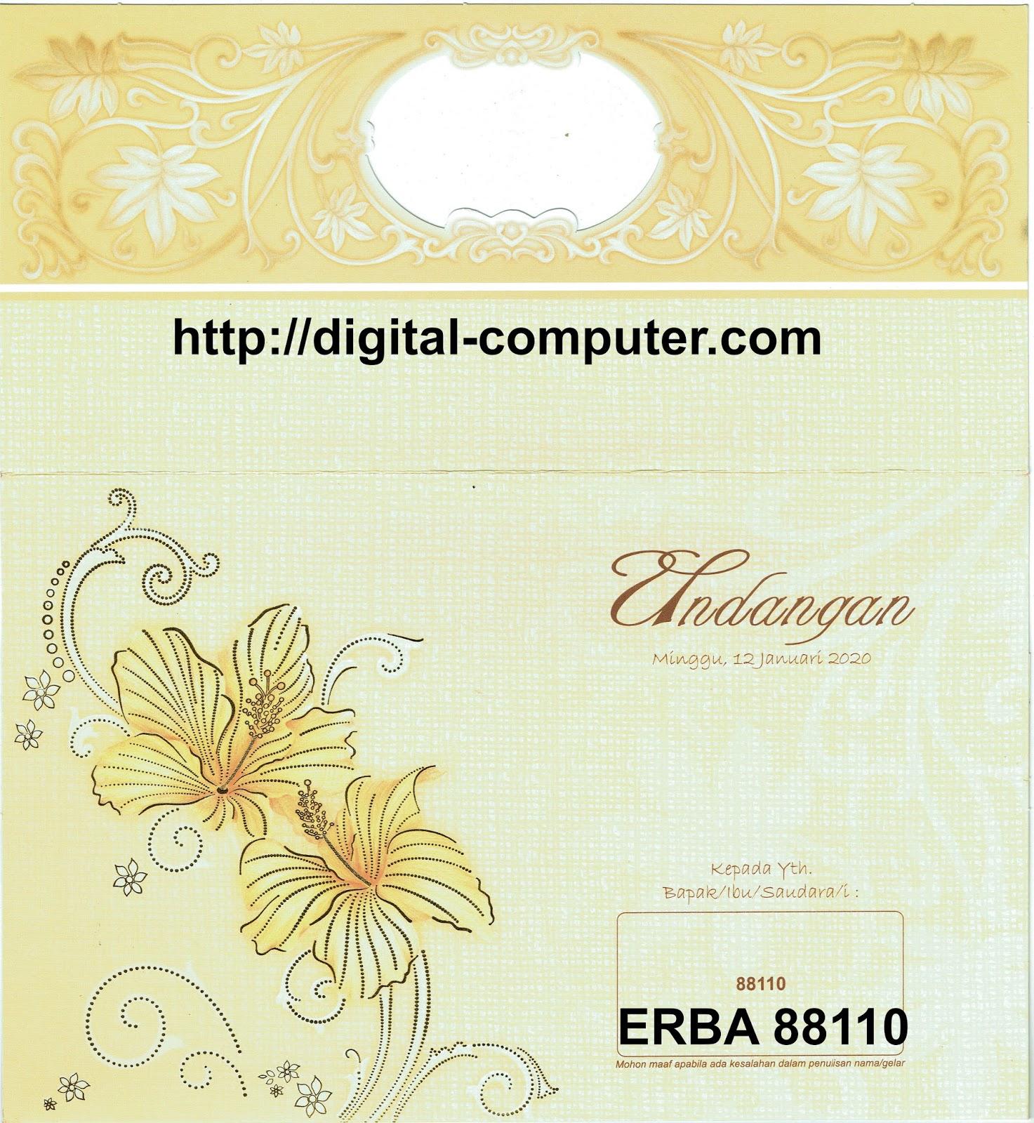 Undangan Softcover ERBA 88110