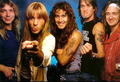 Foto de Iron Maiden en sus inicios