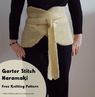 Knitting and so on: Garter Stitch Haramaki