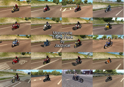 Motorcycle Traffic Pack by Jazzycat v 1.5