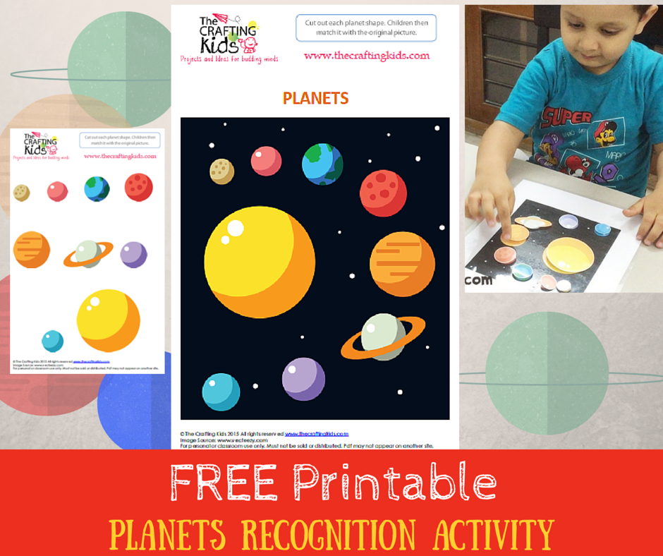 planets recognition activity with free printable to download the