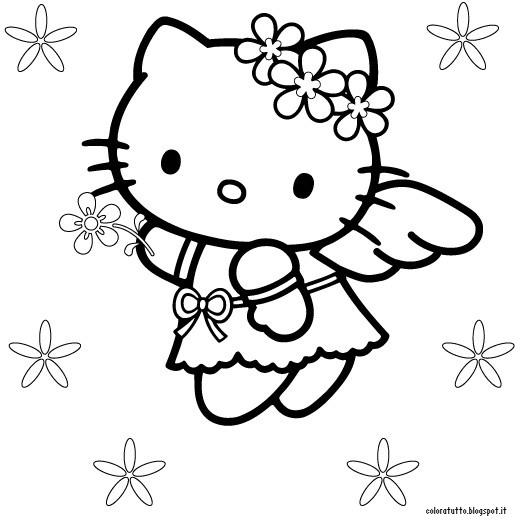 Giochi Hello Kitty Da Colorare.Hello Kitty Da Colorare On Line