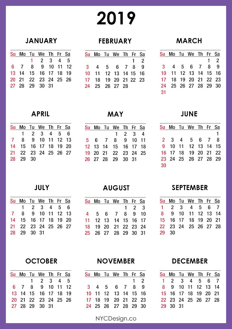 new york web design studio  new york  ny  2019 calendar