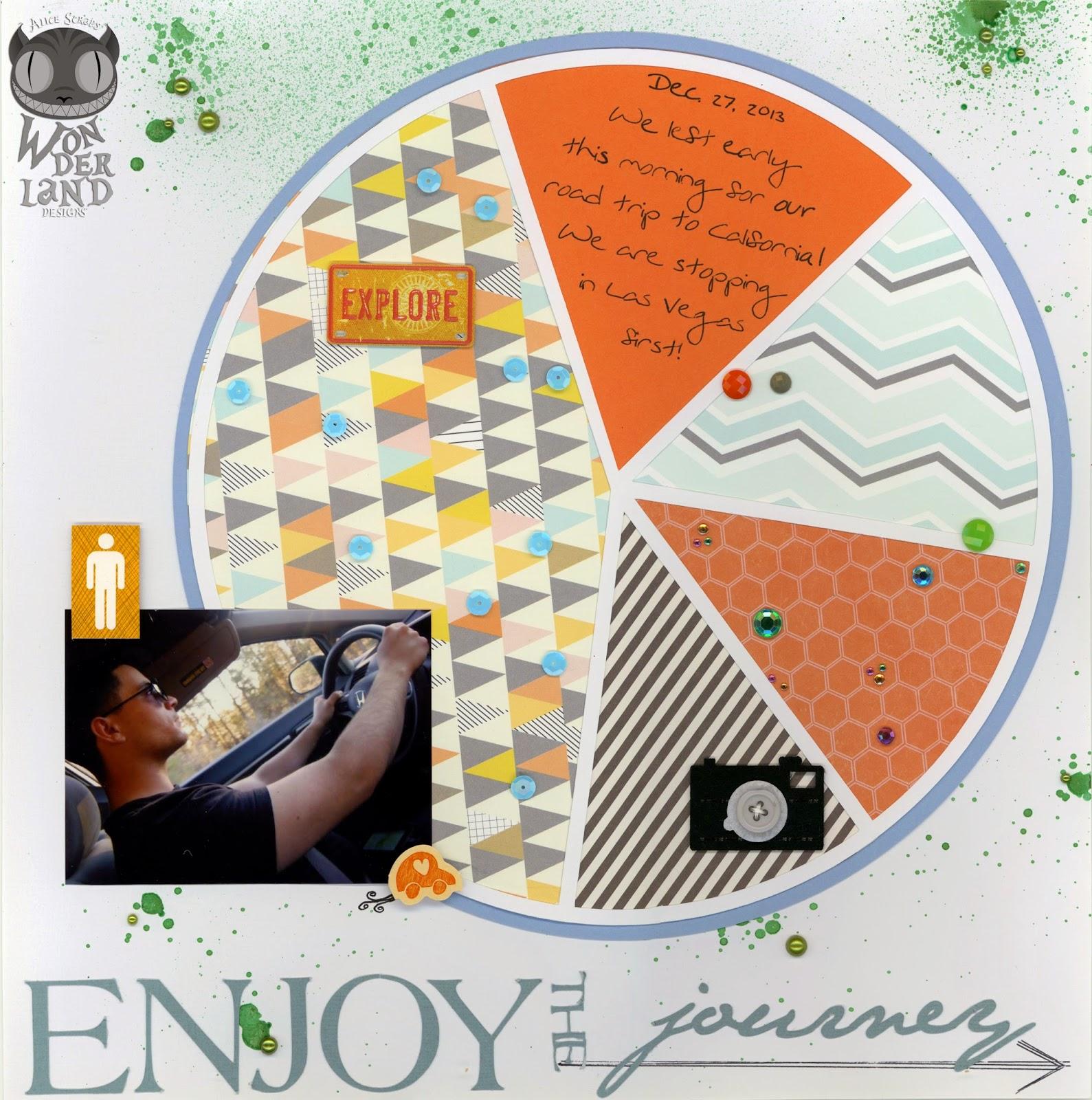 Enjoy the Journey| Scrapbook layout by Alice Scraps Wonderland