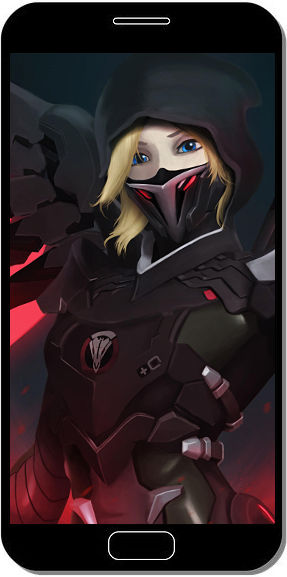 Blackwatch Mercy Overwatch - Fond d'Écran en QHD pour Mobile