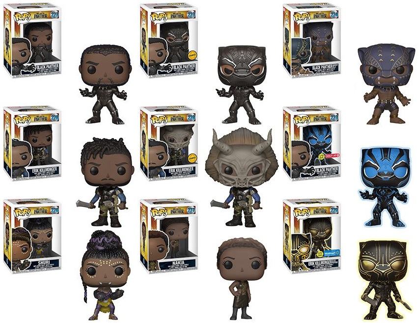 29c64e0ea The Blot Says...: Black Panther Movie Pop! Marvel Vinyl Figures by Funko