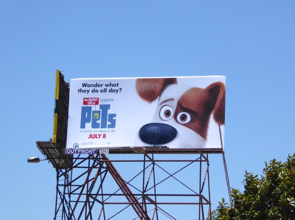 Secret Life of Pets Max dog billboard
