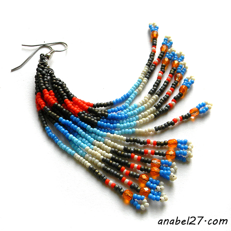 colorful beadwork earrings beaded jewelry anabel