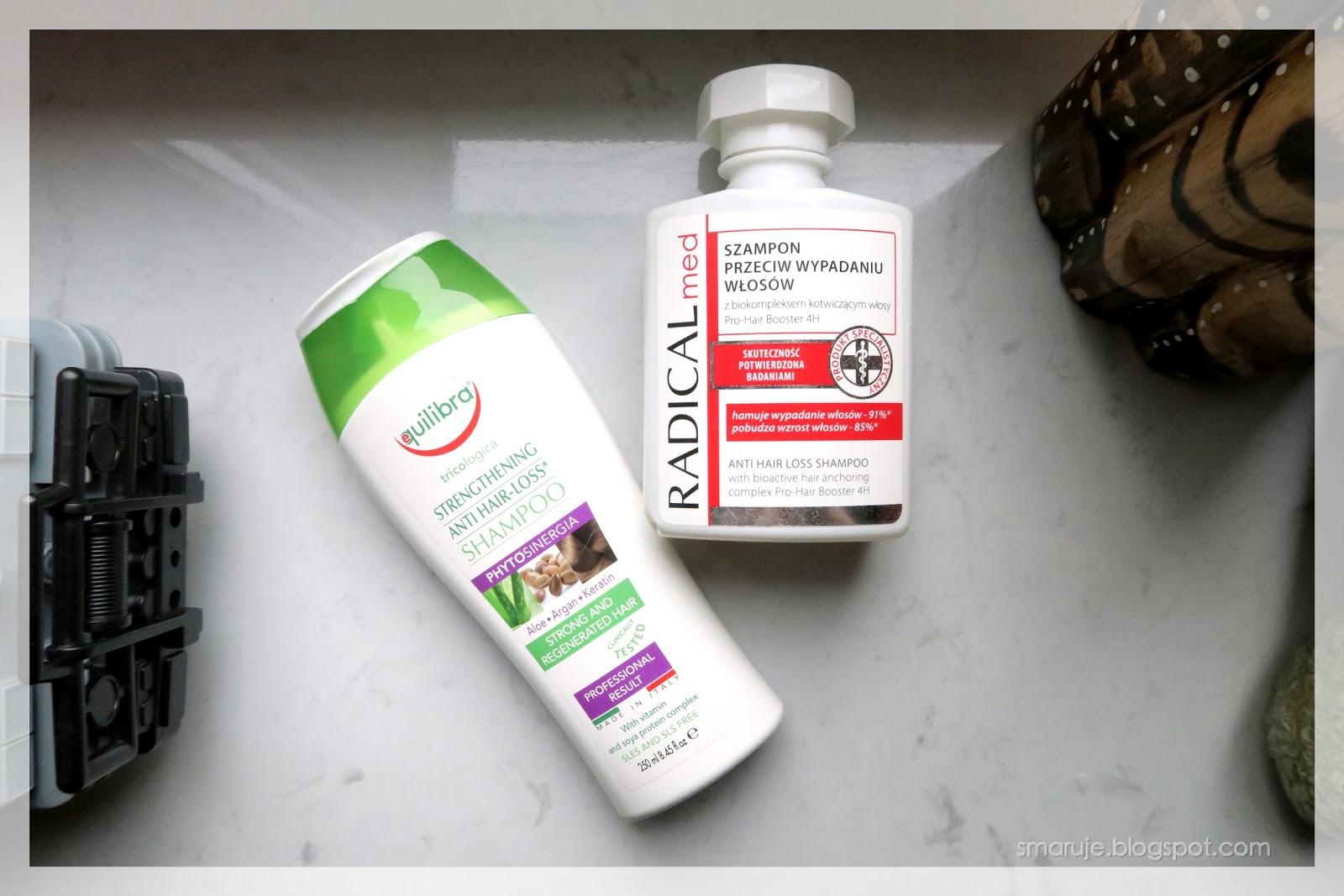 O dwóch takich, co walczyli z wypadaniem: Equilibra Strengthening Anti Hair-Loss / Farmona Radical Med