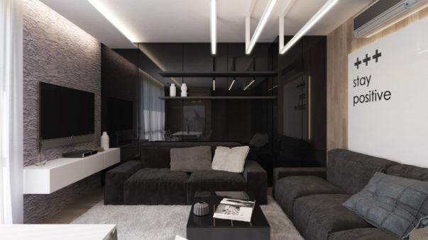 Black Living Room Ruang Tamu Bernuansa Hitam Untuk Ide Inspirasi