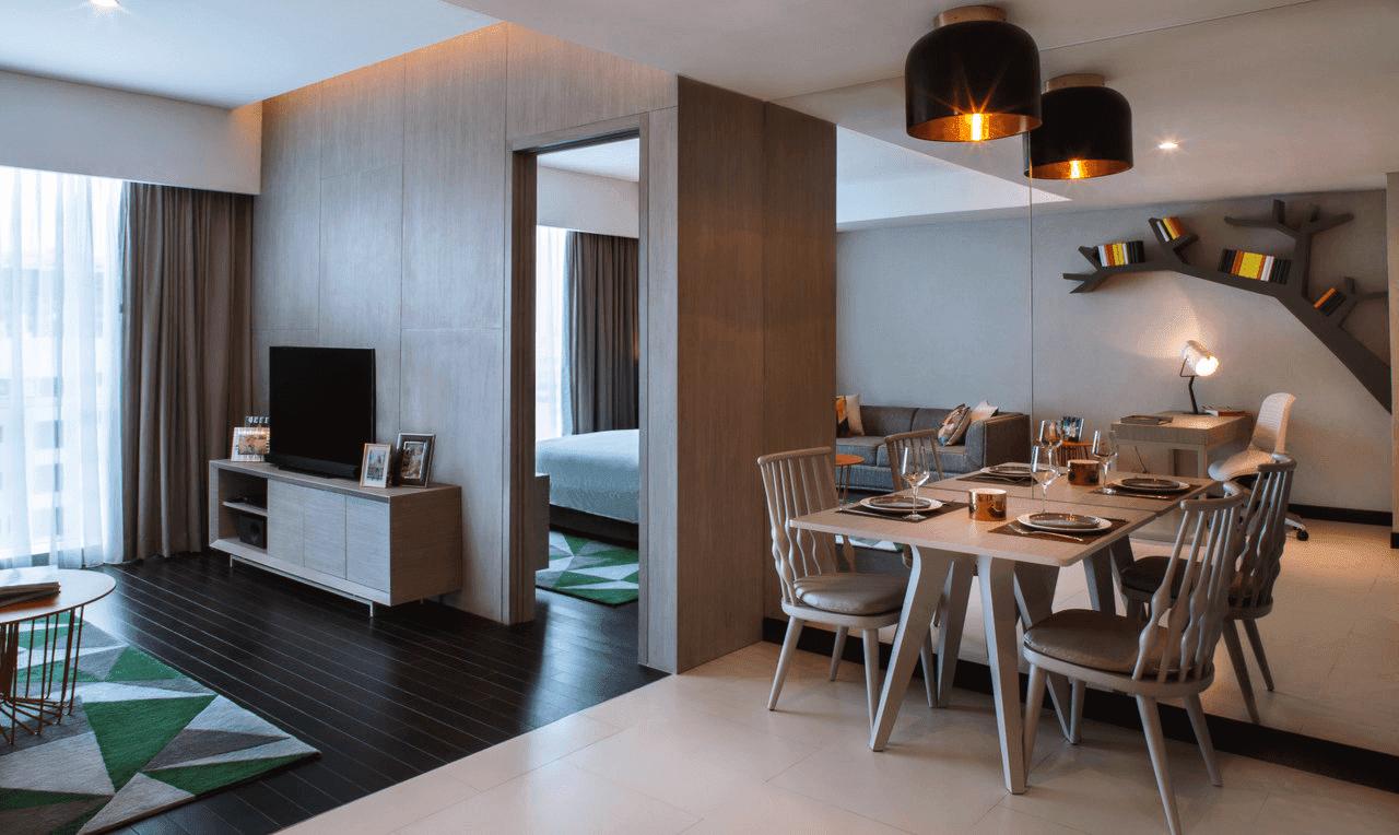 Phòng khách căn hộ đẳng cấp của King Palace Nguyễn Trãi