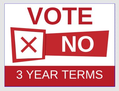 NO 3 year terms