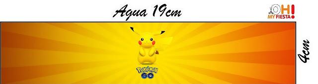 Etiquetas para personalizar botella de agua de Pikachu para imprimir gratis.