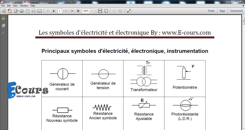 symbole schema electrique pdf wire center. Black Bedroom Furniture Sets. Home Design Ideas