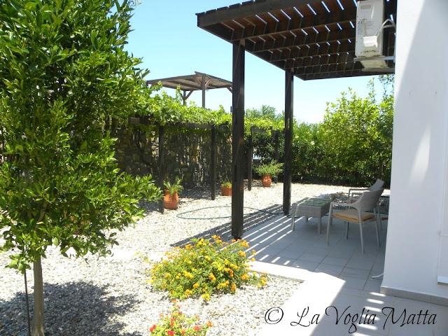giardino della villetta nei pressi di Lindos