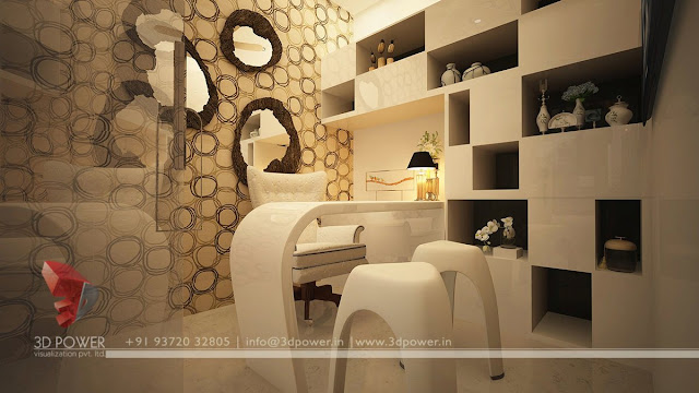 3d interior view rendering. Luxurious Home Office interior   Home Office  Interior   Home Office Interior Design