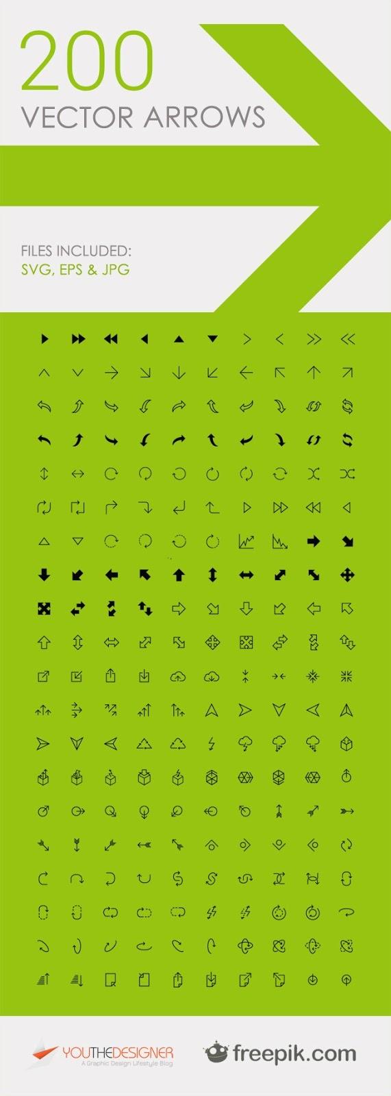 200 Free Vector Arrow Icons