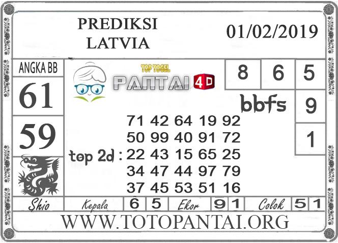 """Prediksi Togel """"LATVIA"""" PANTAI4D 01 FEBRUARI 2019"""