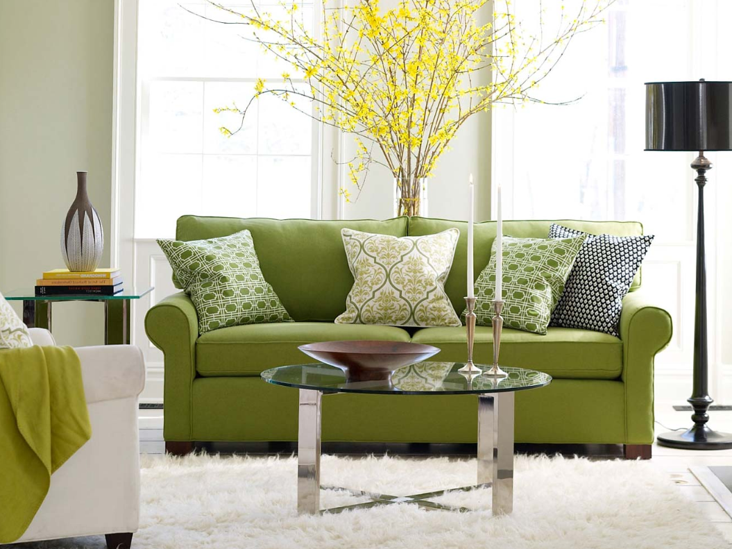 green sofa living room ideas