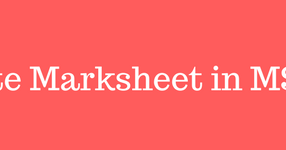 Computercoursestudy: How to Create Marksheet in MS Excel? [2018]