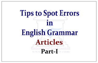 Tips to Spot Error in the English Questions