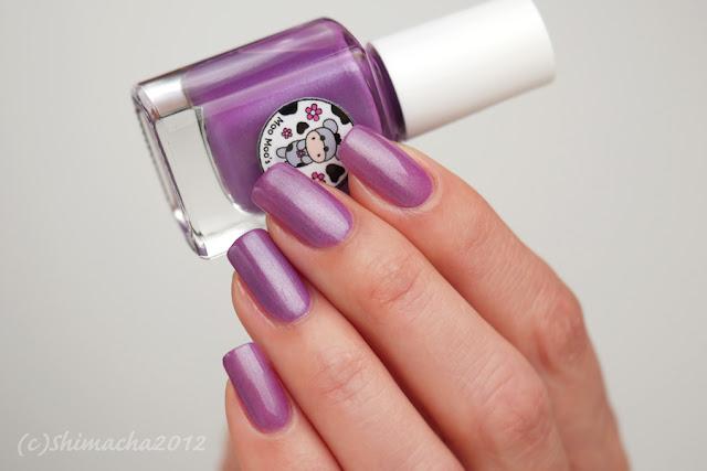 Moo Moo Polish - Rosy Aroma, shimmer polish