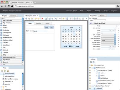 Maquetta, IBM's open source WYSIWYG HTML-5 editor - free games