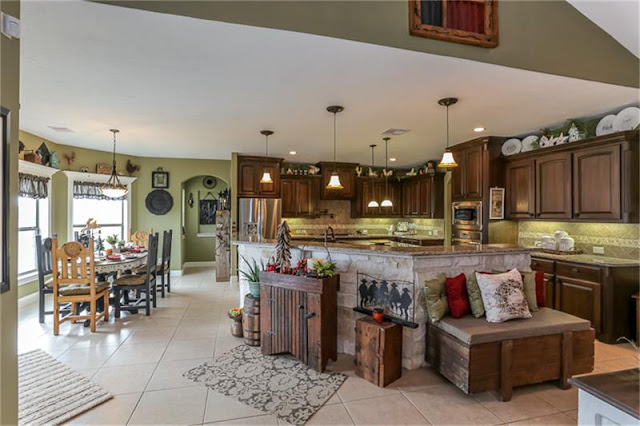 Open Concept Kitchen-House Hunting-Texas Hill Country House- From My Front Porch To Yours
