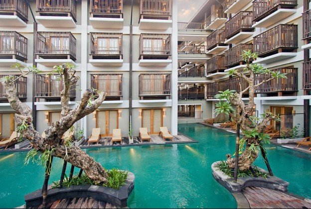 star hotel that belongs to this novel non only offers rooms amongst straight access to the swim Beaches in Bali; The Oasis Lagoon Sanur