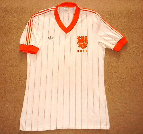 36a0159afd7 ... World Cup in Spain. Their prospected Adidas jerseys for the tournament  featured classy pinstripes design and were used by the country for several  years ...
