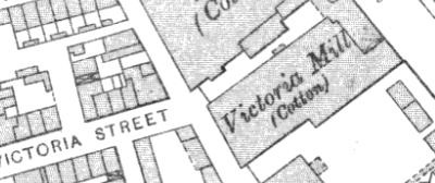 Victoria Mill, OS map, 1907.