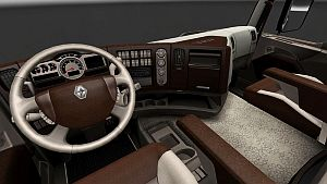Wood Cream Interior skin for Renault Premium
