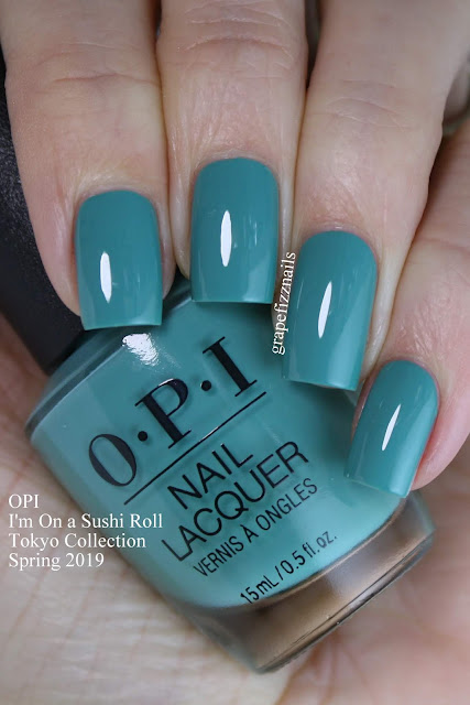 I'm On a Sushi Roll, OPI Tokyo Collection Spring 2019