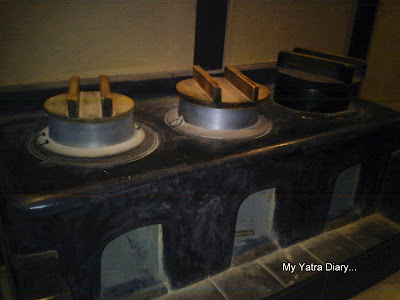 The kitchen stove of the Naramachi Koshi-no-ie or the Lattice House