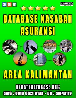 Jual Database Nasabah Asuransi Kalimantan