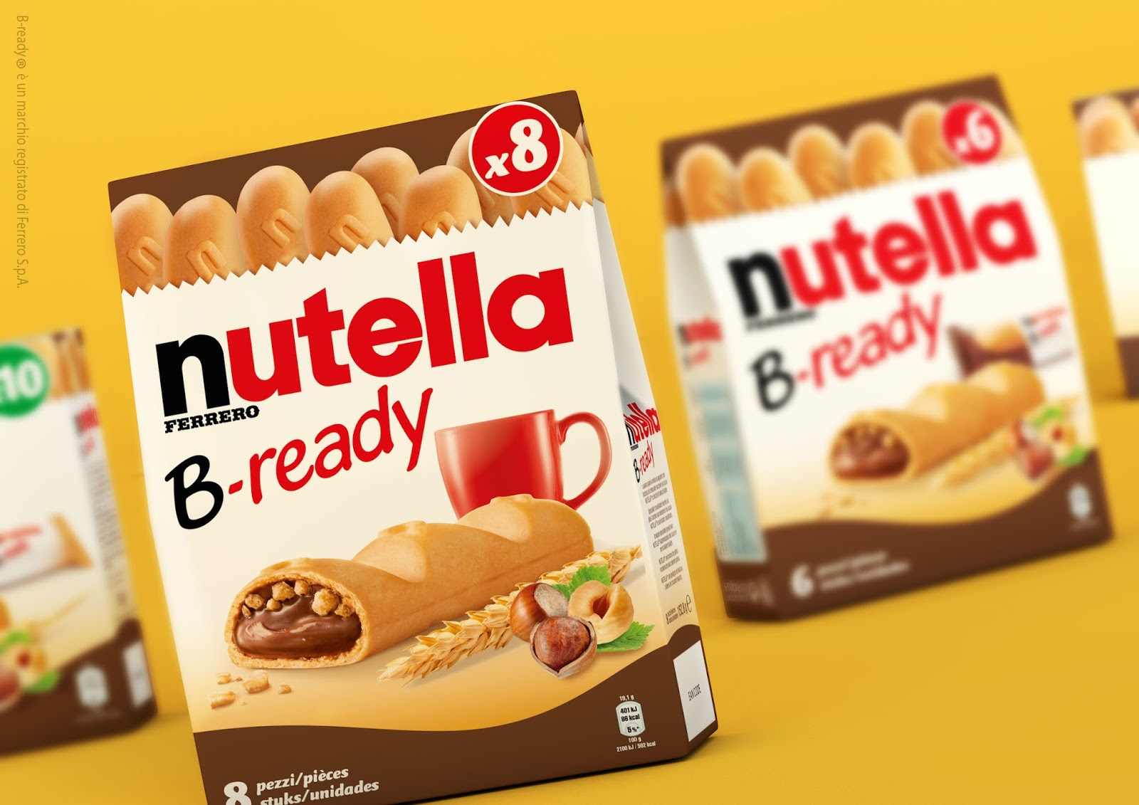 nutella b ready on packaging of the world creative package design
