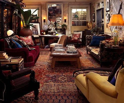 Ralph Lauren Living Room Photos: Moon To Moon: Eclectic Sitting Rooms