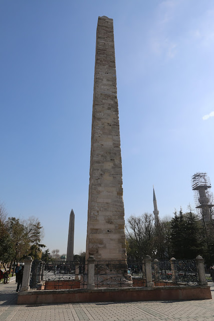 Walled Obelisk at Hippodrome in Istanbul, Turkey