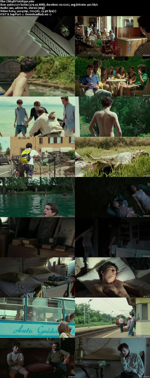 Call Me by Your Name 2017 English 480p Web-DL