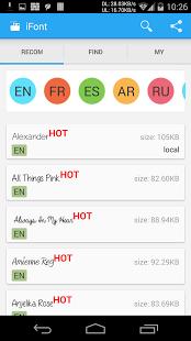 Aplikasi Android I Font