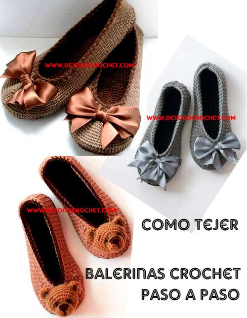 como tejer balerinas-crochet