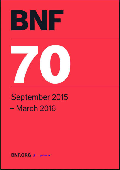 British National Formulary (BNF 70) Sep 2015 - March 2016