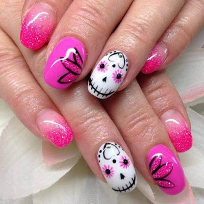 Floral nail design ,Mylar Nails Art Ideas