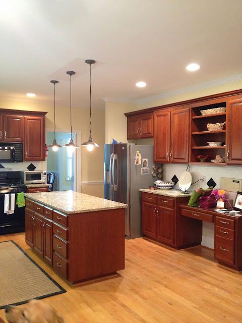 astounding kitchen lighting before after | Classic Annie.: Kitchen Lighting Before and After