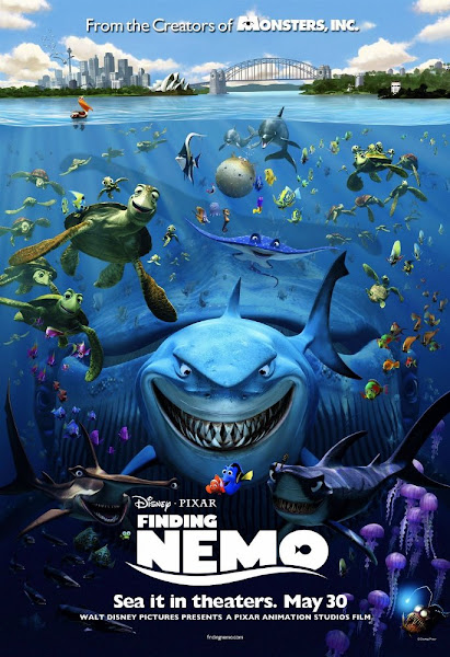 Poster of Finding Nemo 2003 720p Hindi BRRip Dual Audio Full Movie Download