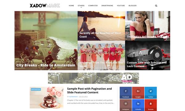 Xadow Magz Fully responsive blogger template
