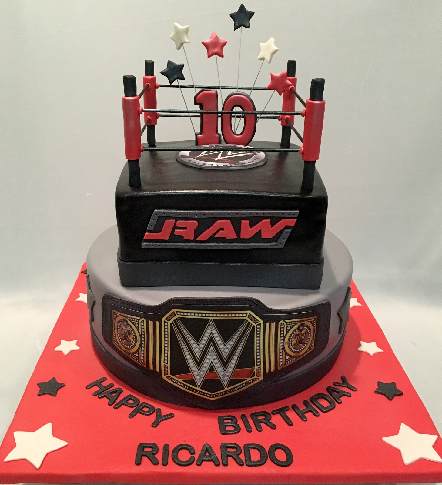 Wrestling Belt Birthday Cakes