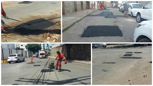 Operação tapa buraco nas ruas do bairro